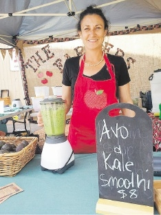 Karragullen orchardist Narelle Engel whips up a super nutritious avocado smoothie.
