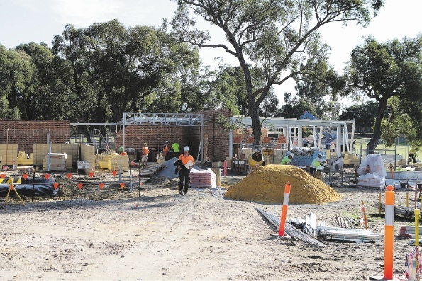 Work continues on the Koondoola multicultural centre.