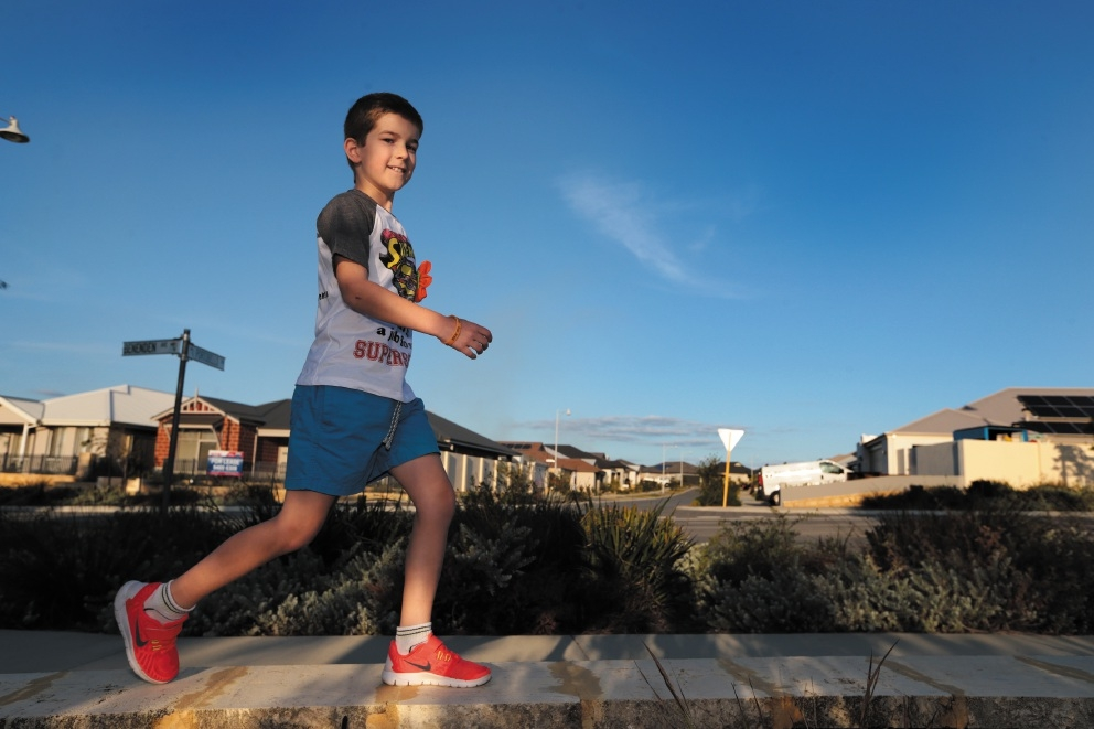 SuperScott Scott Guerini (9) is going to walk a marathon. Picture: Martin Kennealey        www.communitypix.com.au   d438999