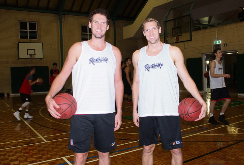Shawn Redhage and Alex Loughton are back on WA courts playing for the Perth Redbacks