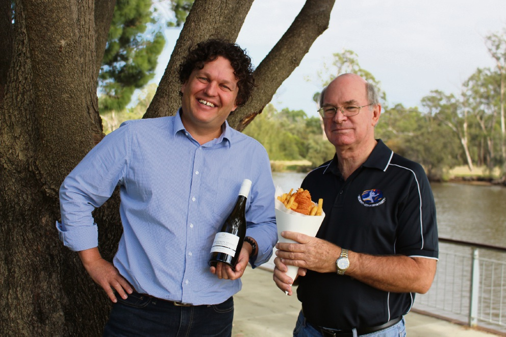 Gardening and urban design expert Dr Josh Byrne (Left) with City of Belmont Mayor Phil Marks.