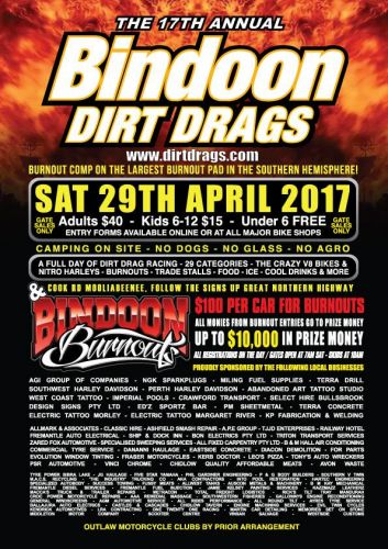 Bindoon Dirt Drags and Burnouts