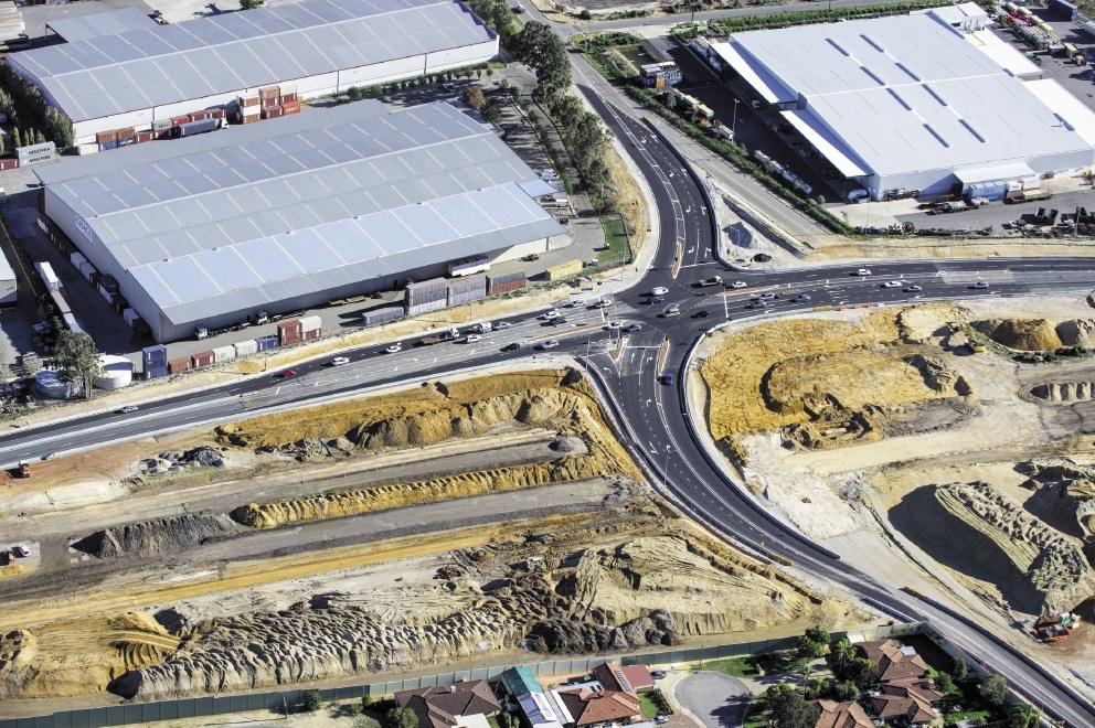 View from the sky: Work on the Berkshire Road/Roe Highway intersection is progressing well. Picture: Gateway WA
