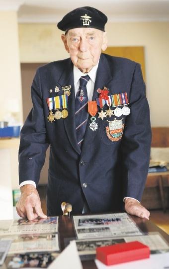 World War II veteran Robert Tweed. Picture: Matt Jelonek  d439398