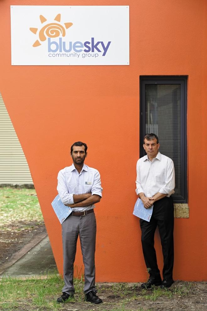 Gaurav Chawla, director of community development at Brockman House, with Bassendean MLA   Dave Kelly. d432568