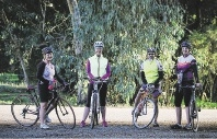 Members of the Bullchitters cycling group.