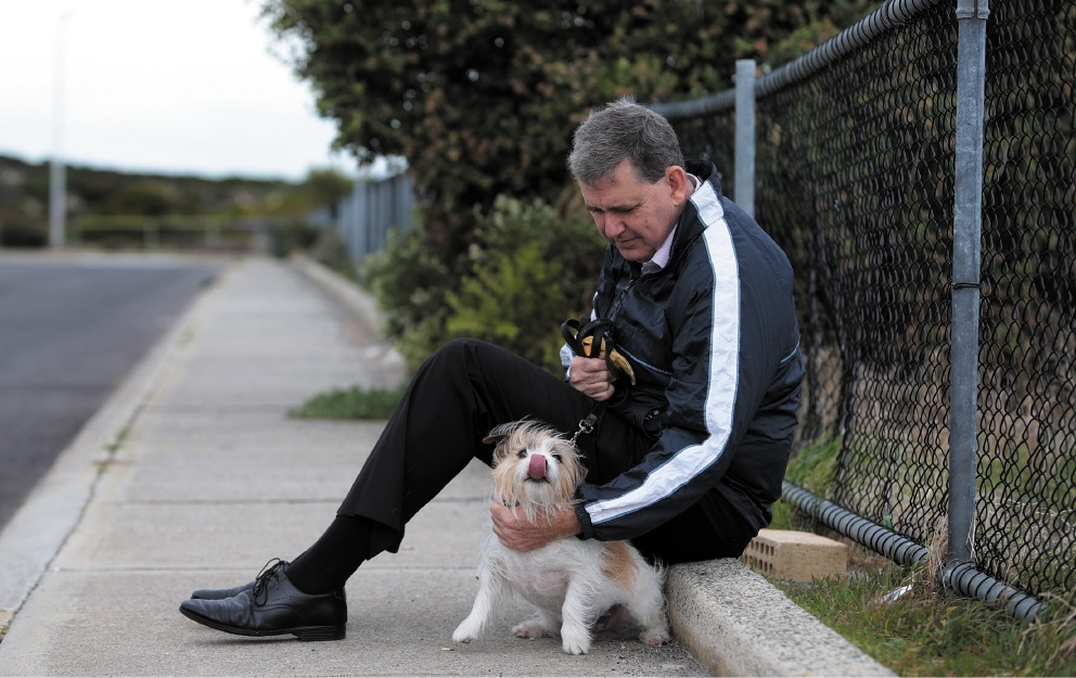 North Metropolitan MLC Ken Travers and his dog Max. Picture: Martin Kennealey   d439474