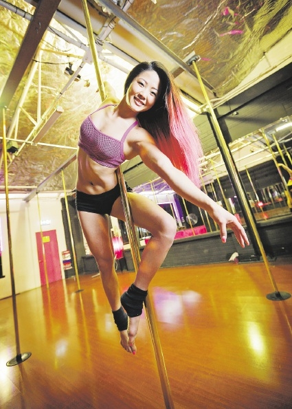 Ruby Lai is looking to regain her crown at the 2015 Miss Pole Dance Australia WA competition. Picture: David Baylis          d439225