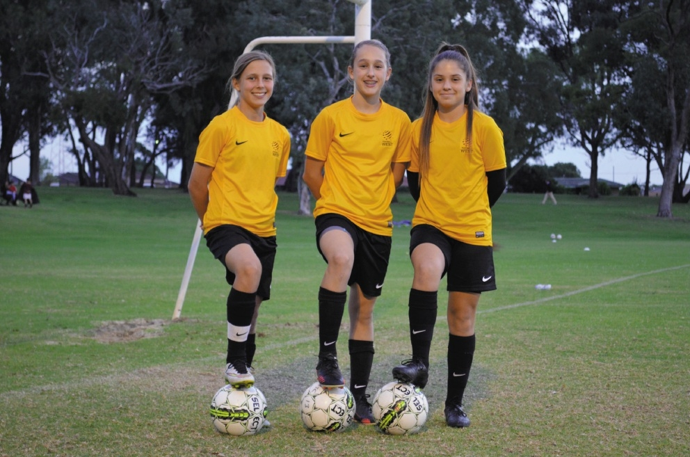 Leticia McKenna, Isabella Wallhead and Ashleigh Santich.