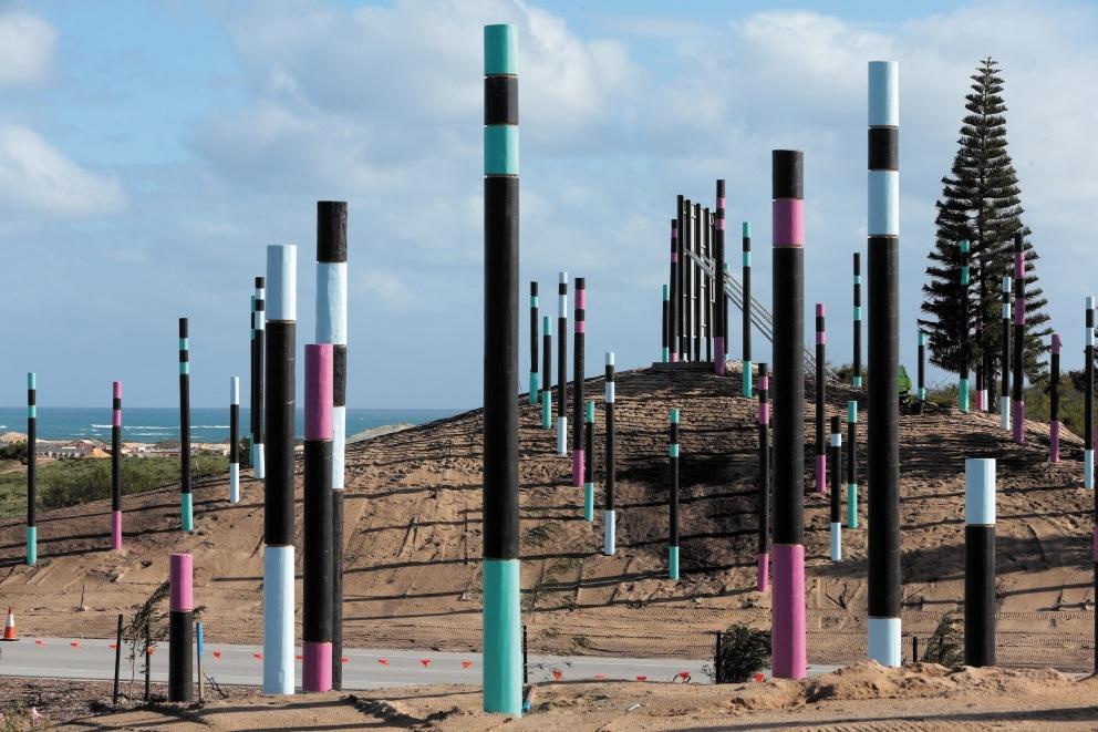 Eye-Catching Poles Make Entrance for Alkimos Estate