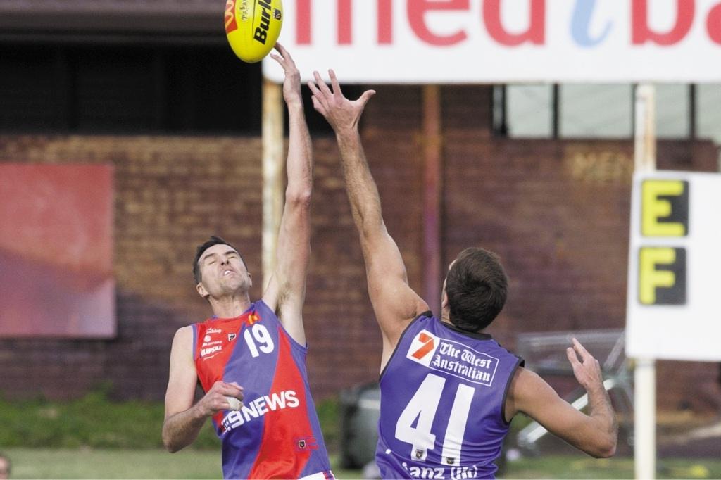 West Perth players get accustomed to their one-off guernseys. Picture: Matt Beilken