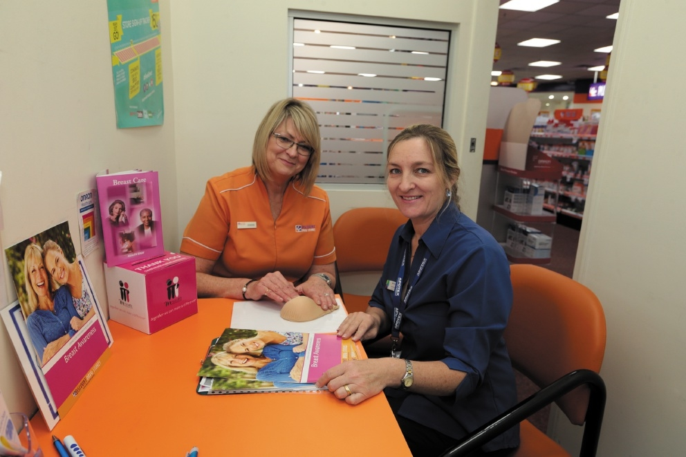 Discount Drug Store's manager Dianne Stewart with registered nurse Annette Howe.  Picture: Martin Kennealey  d442312