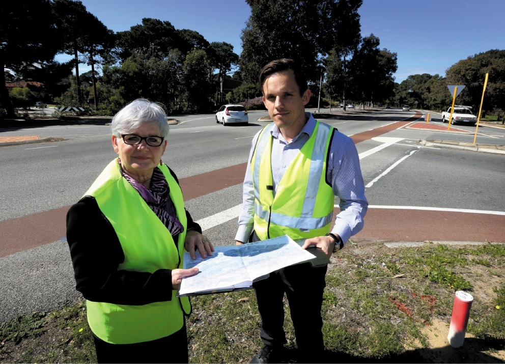 South Perth Mayor Sue Doherty with engineering technical officer Marinko Knezovic.Picture: Matt Jelonek        www.communitypix.com.au   d442853