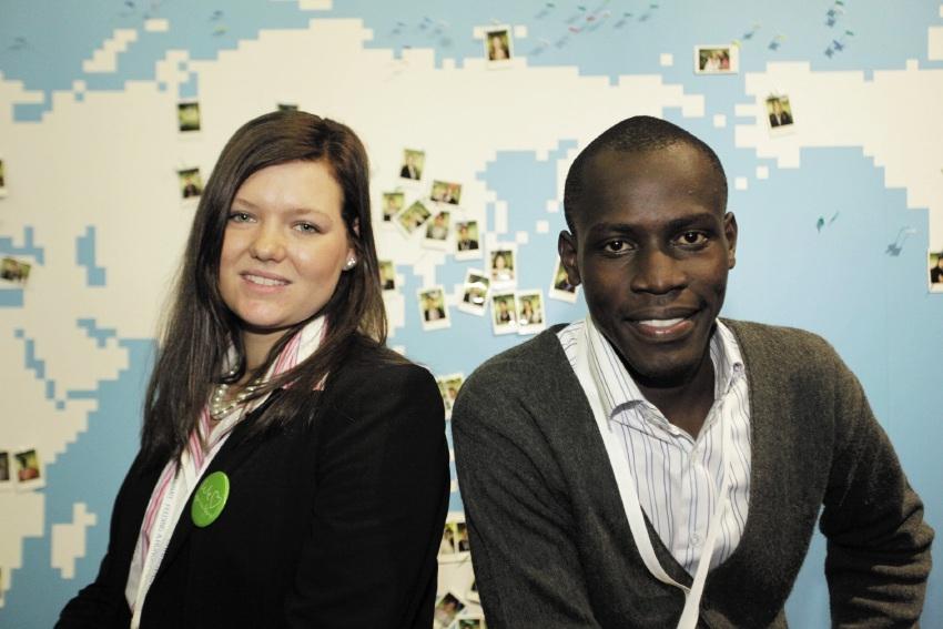 Laura Grubb and Samba Ouma Zablon.
