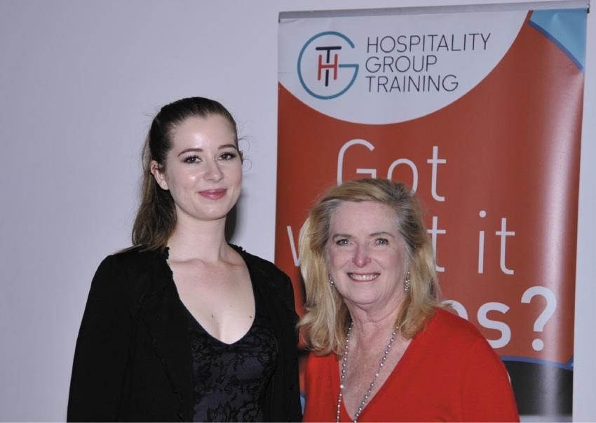 HGT award winner Lisa Andrewartha with award sponsor Margaret Johnson.