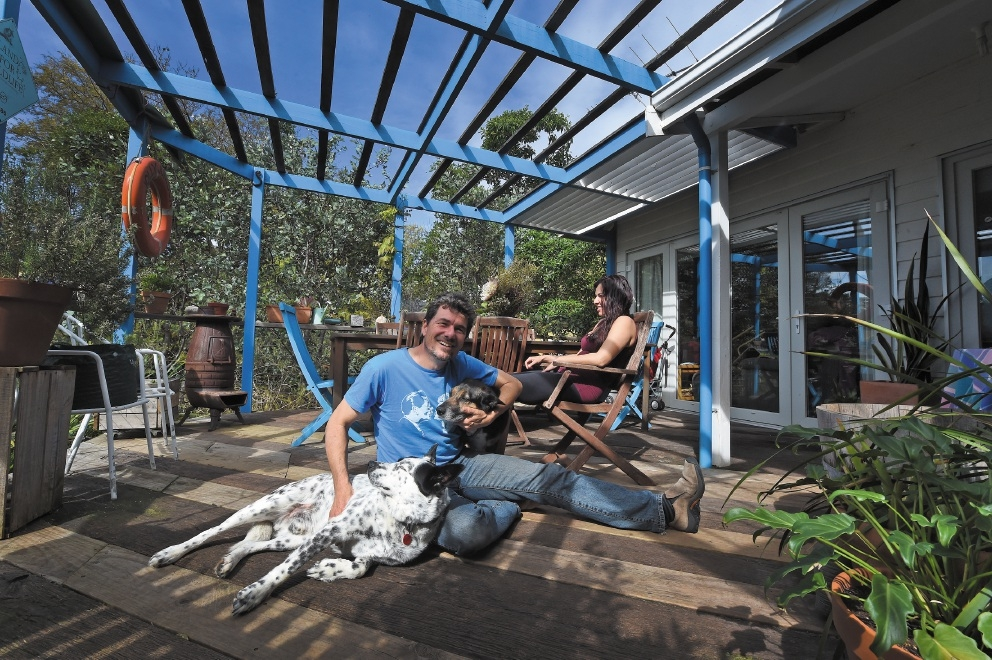 Chris and Astrid Ferreira at home with their dogs.  Picture: Jon Hewson        www.communitypix.com.au   d443001