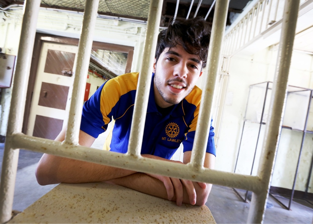 UWA student Joseph Carlino is one of the people taking part in Convicts for a Cause.Picture: Matt Jelonek        www.communitypix.com.au   d442460