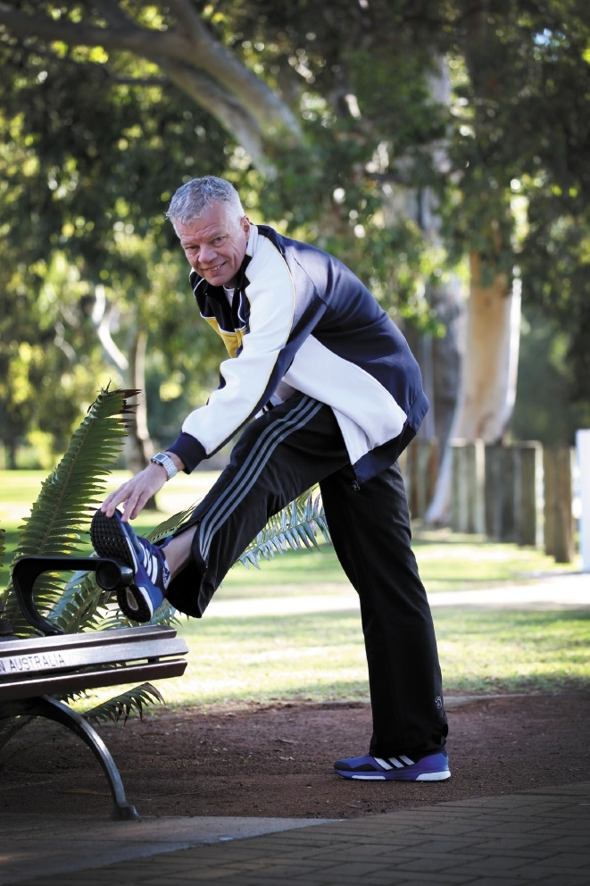John Hawks is enjoying the HBF Fit Fans competition.|Picture: Andrew Ritchie  d443003