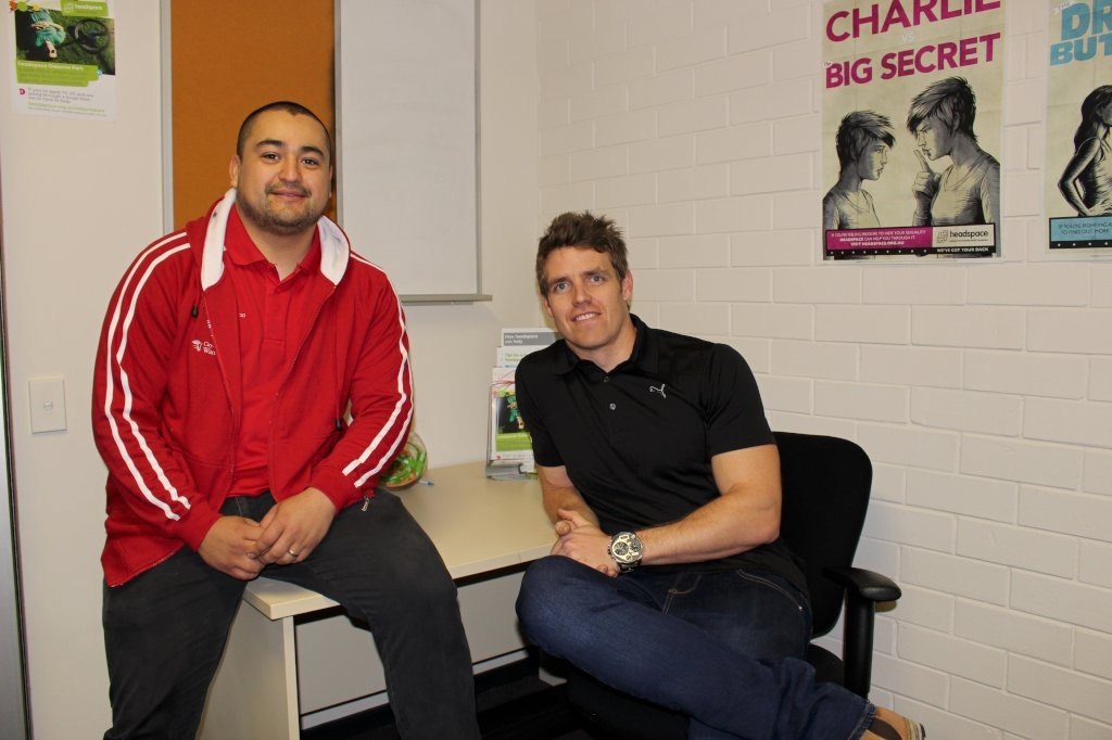 City of Wanneroo youth support worker Ozzie Bravo and |headspace case co-ordinator Fraser Brownlie.