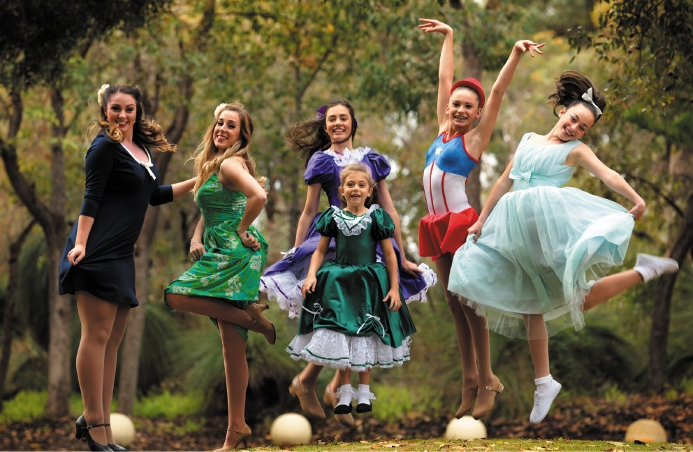 Performers all... Madeline Hangan, Chloe Grimes, Imogen Dearlove, Summer Krysiak (6), Jacinta Baxter ( 14) and Eve                    Basson (14). Picture: Martin Kennealey        www.communitypix.com.au   d441217