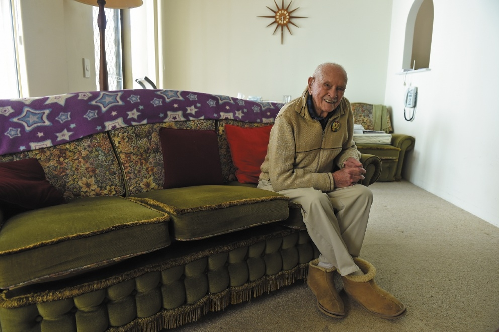 Frederick Crossley celebrated his 100th birthday on September 1.        Picture: Jon Hewson  d443058