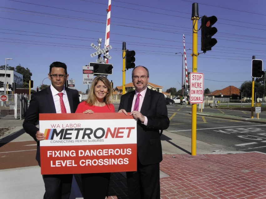 Victoria Park MLA Ben Wyatt, Opposition transport spokeswoman Rita Saffioti and Cannington MLA Bill Johnston.