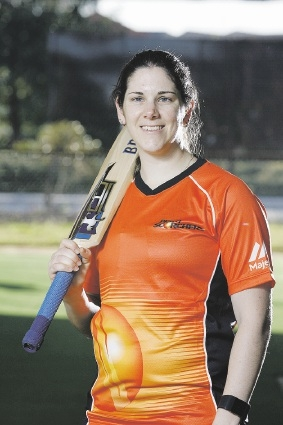 Emma Biss is excited to be playing for the Scorchers in the WBBL. Picture: Marie Nirme        www.communitypix.com.au   d443322