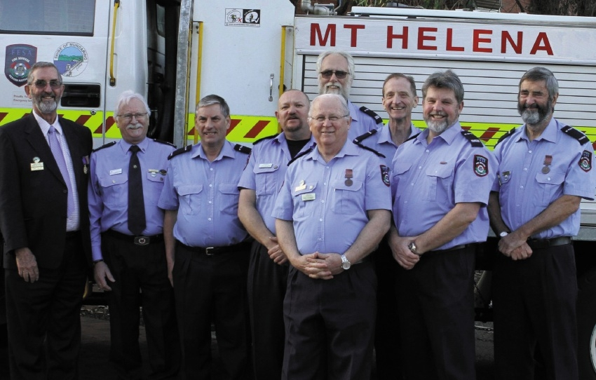 The Mount Helena Volunteer Bush Fire Brigade team.