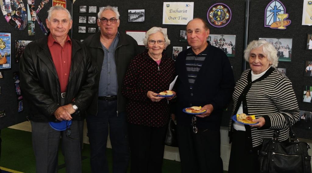 Mike Mazzella, Tony Mazzella, Maria Bedola, Joe Mazzella and Louise Ferron.  Picture: Martin Kennealey d442904
