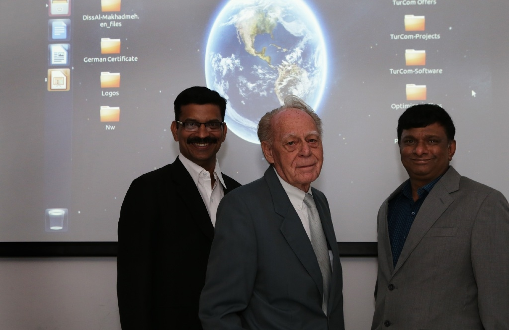 Director of sales Srinivas Bharathipudi, Graham Hunt and technical director Anand Prakash.