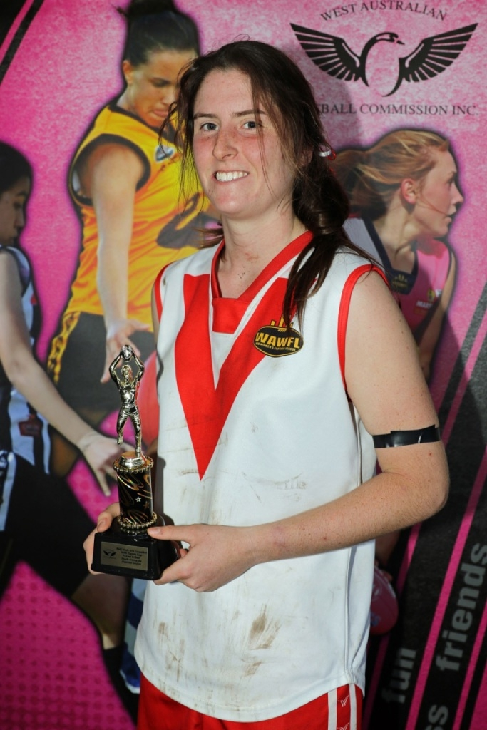 Beatrice Devlyn with her trophy. Picture: Phil Barnes