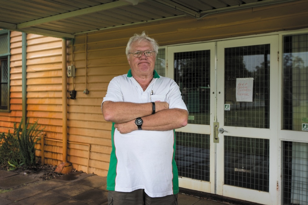 Gosnells Croquet Club member Terry Brown has asked the council for help with security cameras. Picture: Will Russell  d443561