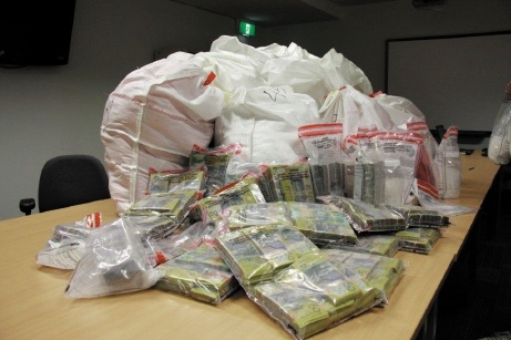 Police seized more than 320kg of methamphetamine and $1.2 million in cash in WA's biggest-ever drug seizure.