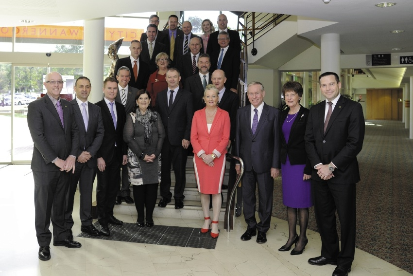 Members of State Cabinet in Wanneroo last week.
