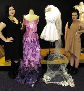 Thornlie resident Jessica Jones and Gosnells resident Georgina Greenlee with their designs.
