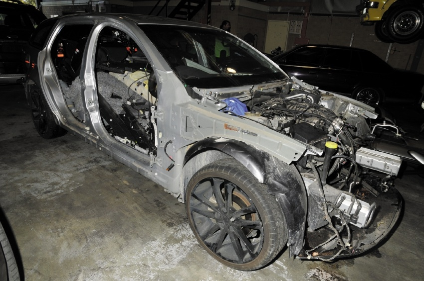 This car was stripped just days after it was allegedly stolen.
