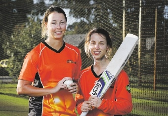Piepa Cleary and Chloe Piparo are thrilled to be selected in the Perth Scorchers side for the WBBL.  Picture: Marie Nirme www.communitypix.com.au   d443322