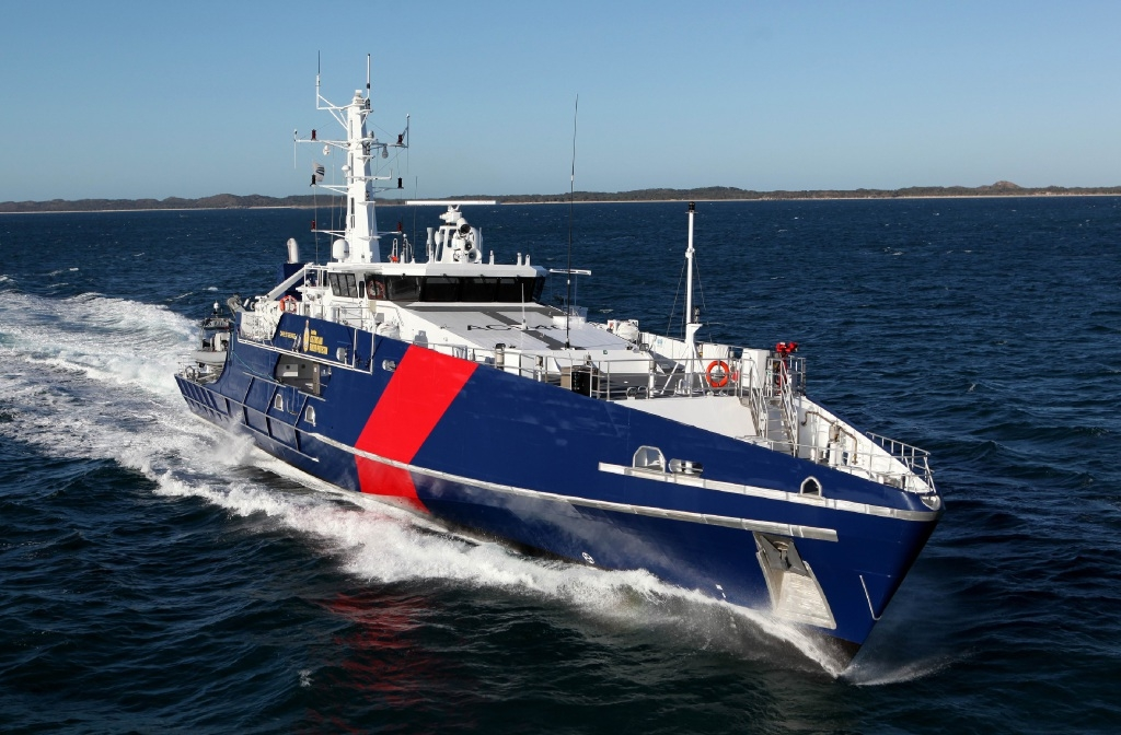 One of the eight Cape Class Patrol Boats Austal supplied to Australian Border Force.