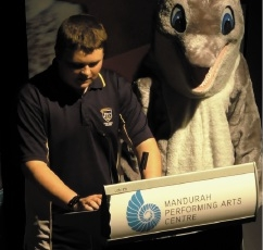 John Tonkin College student Aaron Johnston won the Environmental Award.