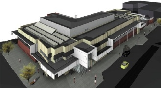 An artist's impression of the station.