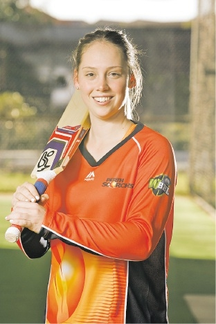 Megan Banting is excited to be playing for the Scorchers in the first WBBL. Picture: Marie Nirme www.communitypix.com.au   d443322