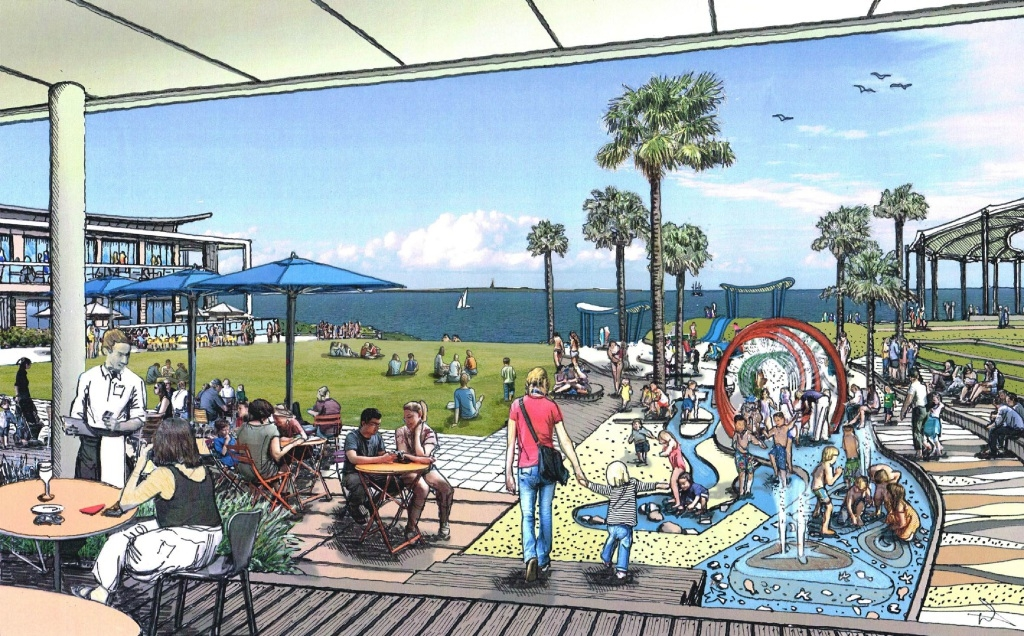 An artist's impression of the revamped foreshore.