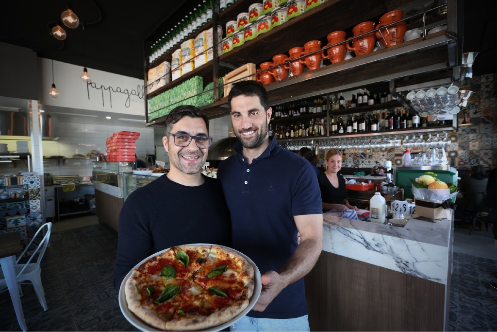 """Pappagallo owners Nino La Verghetta and Michael Tricoli: """"It's casual and has a very European atmosphere,"""" says La Verghetta. Picture: Andrew Ritchie www.communitypix.com.au   d443510"""