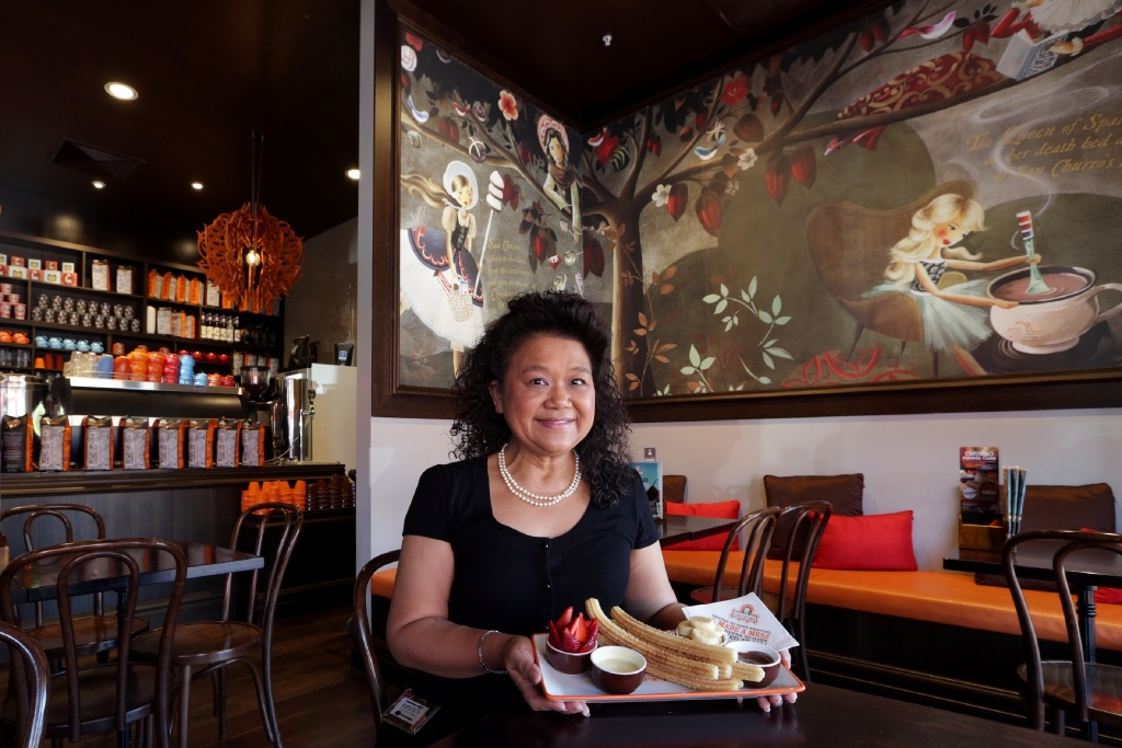 Food tour guide Ripley Saviel. Picture: Martin Kennealey    d443936