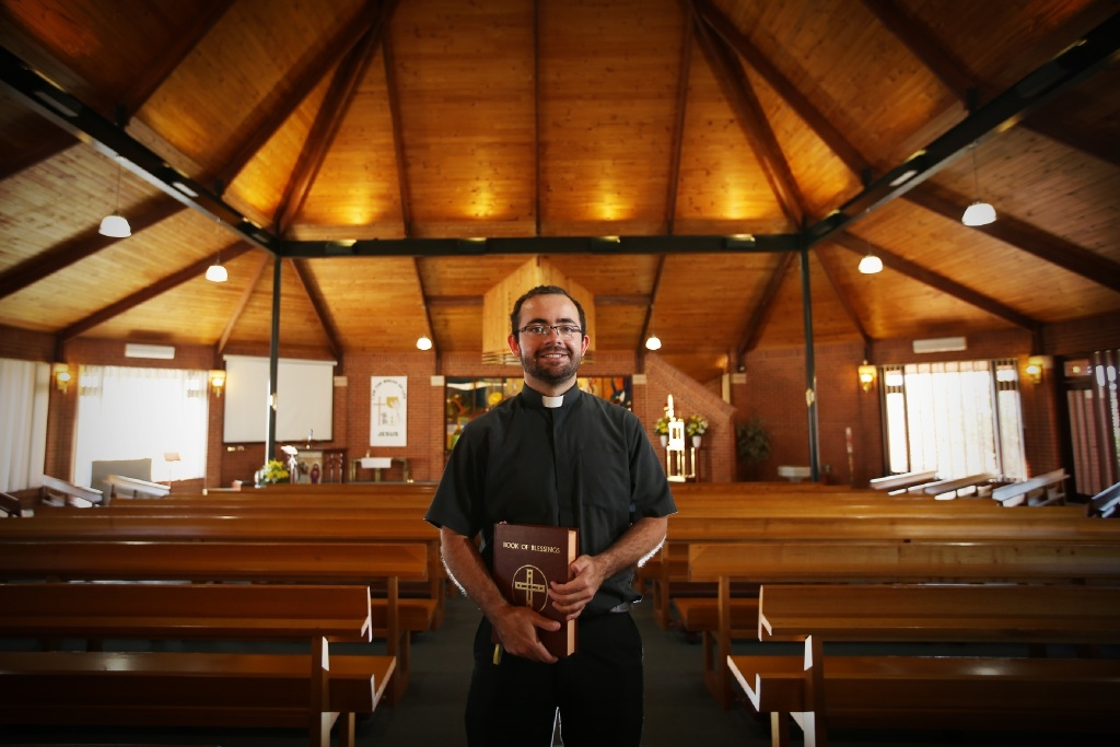 Father Wilson Donizetti is promoting the festival at St Kieran's Church.  Picture: Andrew Ritchie         d443989