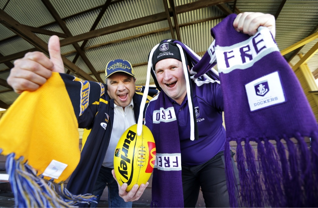 Sylvan Albert and  John Gangell are hoping for a western derby Grand Final.Picture: David Baylis www.communitypix.com.au   d443812