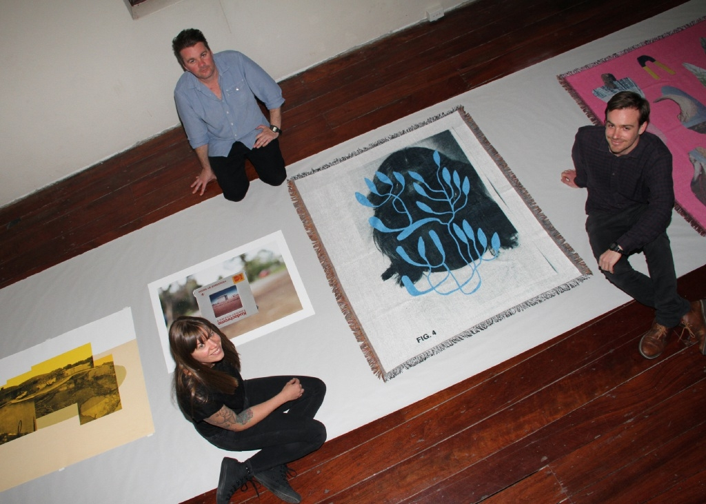 Artists Emma Jolley, Lyle Branson and Shay Colley.