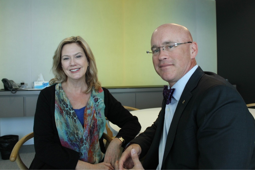Leadership WA chief executive Robin McClellan with futurist David Martin.