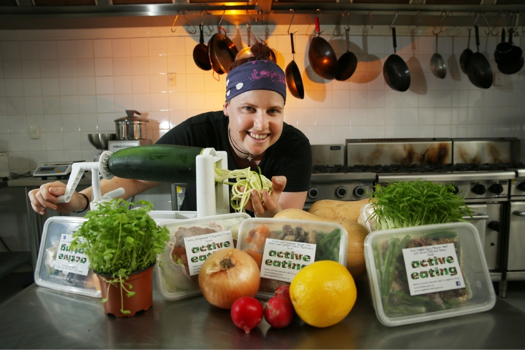 Jasmine Segler produces healthy meals for people on the go.Picture: Andrew Ritchie    d443797