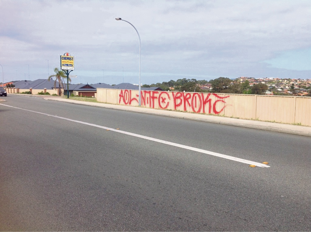 Graffiti  damage in Spearwood.